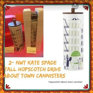 NWT kate spade Hopscotch Drive™AboutTown Canisters